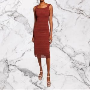 NWOT ALAIA Sleeveless Fitted Ribbed Midi Dress